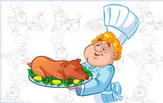 повар и официант на свадьбе