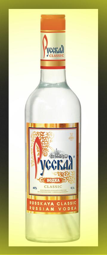 бутылка русской водки1