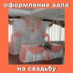 Оформление зала на свадьбу.